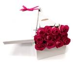 DOZEN PINK ROSES IN PRESENTATION BOX