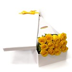 DOZEN YELLOW ROSES IN PRESENTATION BOX